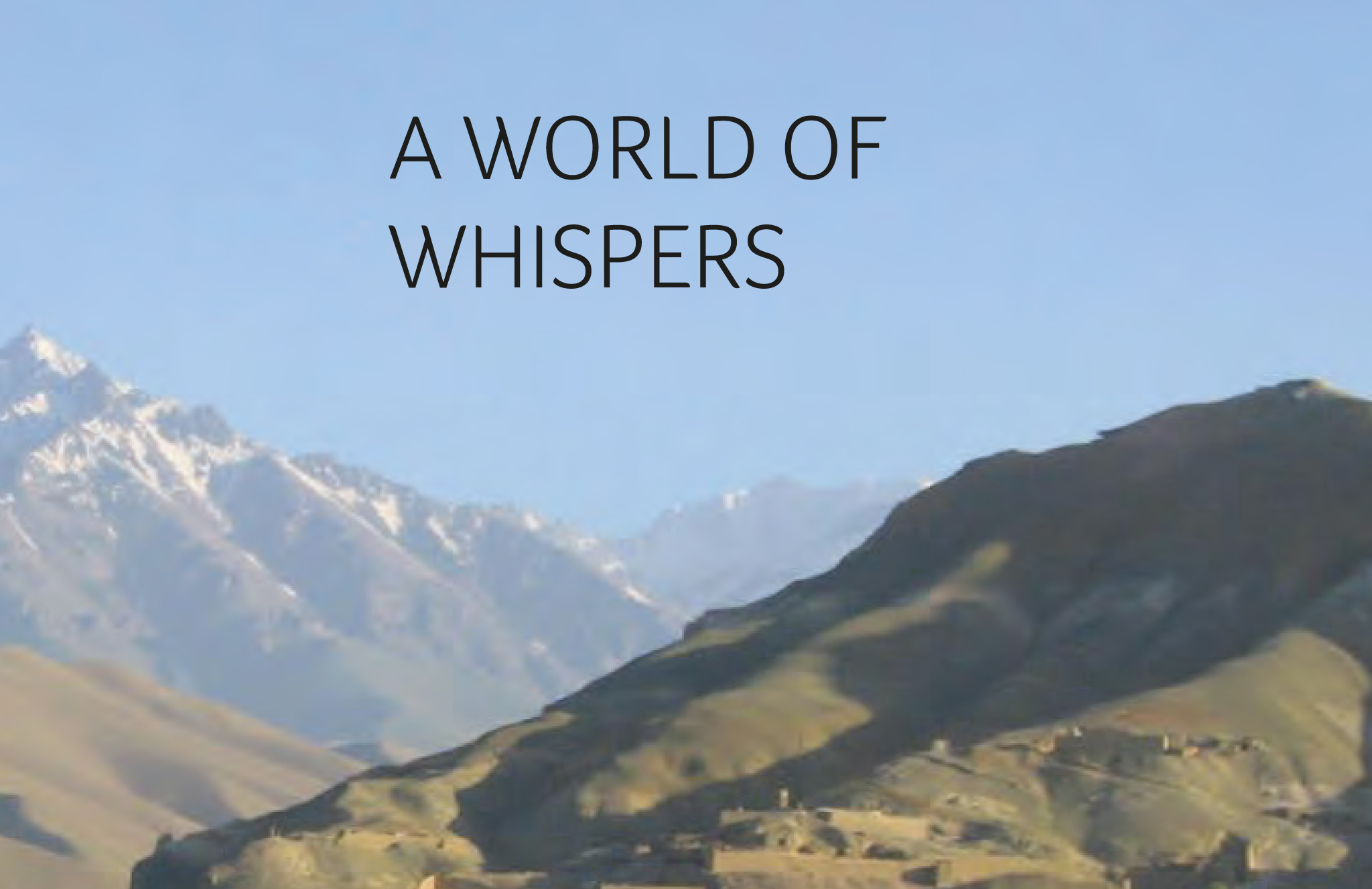 """Booklet """"A World Of Whispers"""""""